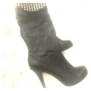 BCBG Tall Leather Stiletto Boots